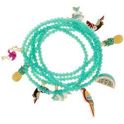 Bay Studio Beaded Tropical Charm Stretch Bracelet Set