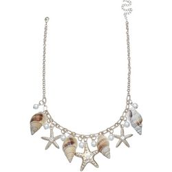 Bay Studio Shell & Starfish Shaky Frontal Necklace