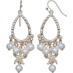 Bay Studio Teardrop Pearl Starfish Dangle Earrings