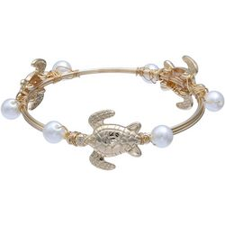 Bay Studio Turtle & Pearl Wrapped Bangle