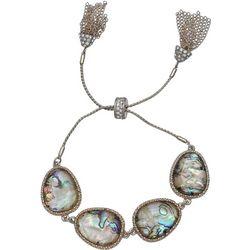 Bay Studio Abalone Gold Tone Tassel Pull Tie Bracelet