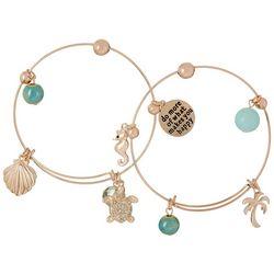 Jules B Duo Coastal Makes You Happy Charm Bracelet Set