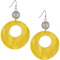 Bay Studio Yellow Shell Ring Drop Earrings