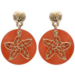 Paradise Shores Shell Disc Starfish Earrings