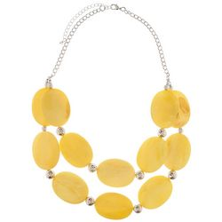 Bay Studio Two Row Larger Yellow Shell Disc Necklace