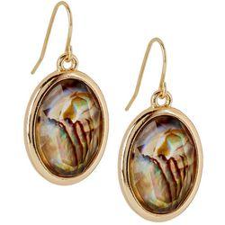 Bay Studio Abalone Shell Oval Drop Earrings