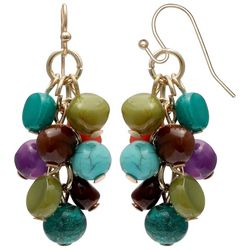 Bay Studio Multi Bead Cluster Dangle Earrings