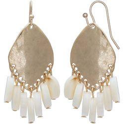 Milli Gold Tone & Shell Shaky Drop Earrings