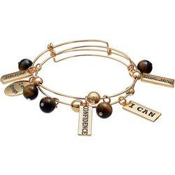 Jules B 2-pc. Tiger Eye Bead Inspiration Bangle Bracelet Set