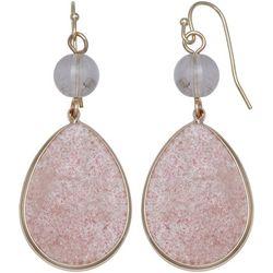 Milli Rose Agate Glass Teardrop Earrings