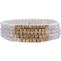 Milli Multi Row Facet & Square Beaded Bracelets