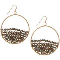 Bay Studio Bronze Brown Hoop Dangle Earrings
