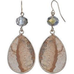 Bay Studio Jasper Teardrop Dangle Earrings
