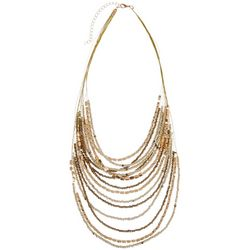 Bay Studio Metallic Beaded Multi Row Necklace