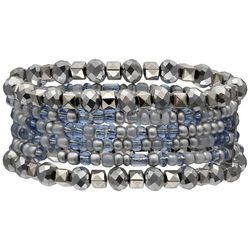 Bay Studio Multi Row Blue Stretch Bracelet