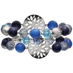 Bay Studio Blue Multi Bead Stretch Bracelet Set