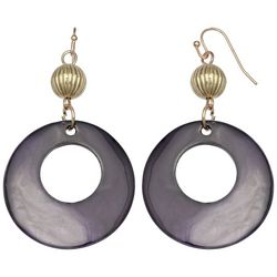 Bay Studio Purple Shell Donut Ring Drop Earrings