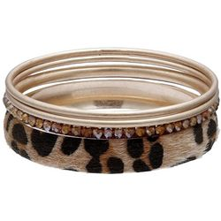 Bay Studio 4 Pc Leopard Gold Tone Bangle Set