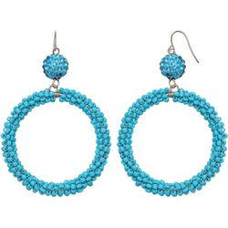 Bay Studio Fireball & Seedbead Hoop Drop Earrings