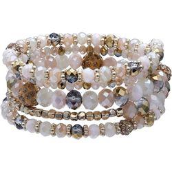 Bay Studio Lt Topaz Glass Beaded Coil Bracelet