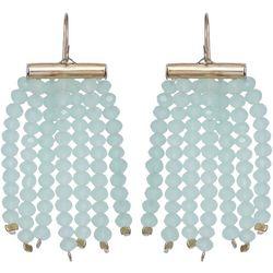 Bay Studio Mint Beaded Shower Earrings