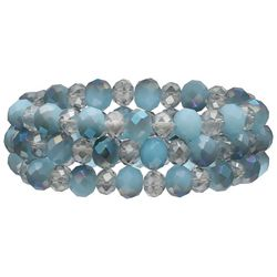 Bay Studio 3-pc. Blue Multi Glass Beaded Bracelet Set