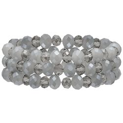 Bay Studio 3-pc. Grey Glass Multi-Faceted Bracelet Set