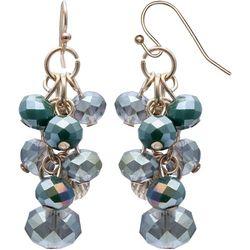 Bay Studio Green Glass Bead Cluster Earrings