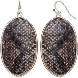 Bay Studio Oval Snake Print Drop Earrings