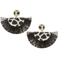 Bay Studio Black & White Fringe Earrings Earrings