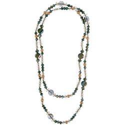 Bay Studio Green Glass Bead & Pendant Necklace