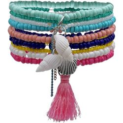 Bay Studio Multi Row Seedbead Tassel Bracelet Set