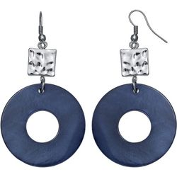 Bay Studio Navy Shell Donut Ring Drop Earrings