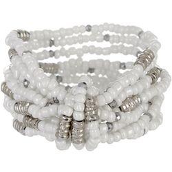 Bay Studio White Multi Row Beaded Bracelet Set