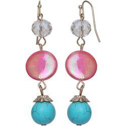Bay Studio Long Shell & Bead Drop Linear Earrings