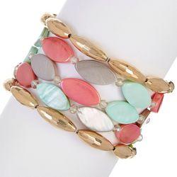 Bay Studio 5 Row Shell & Bead Bracelet Set