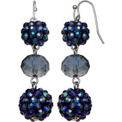 Bay Studio Blue Multi Trio Bead Linear Earrings