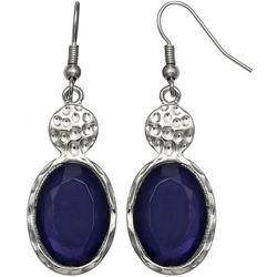 Bay Studio Multi-Faceted Blue Dangle Earrings