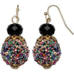 Bay Studio Multi Color Glitter Bead Drop Earrings