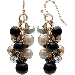 Bay Studio Black Multi Bead Cluster Dangle Earrings