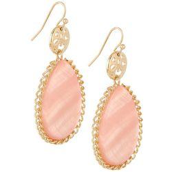 Bay Studio Pink Shell Teardrop Earrings