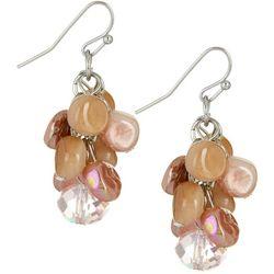 Bay Studio Cluster Bead Pink Multi Earrings