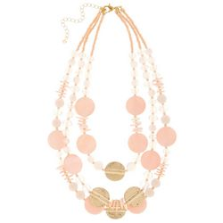 Bay Studio Triple Row Pink Shell Layered Necklace