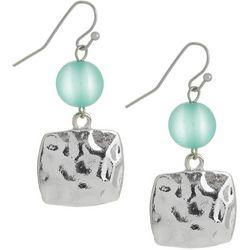 Bay Studio Blue Beaded & Square Double Drop Earrings