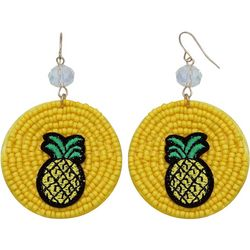 Bay Studio Pineapple Seed Bead Disc Earrings