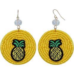 Bay Studio Pineapple Seed Bead Disc Earrings