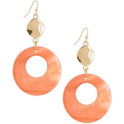 Bay Studio Coral Shell Ring Drop Earrings