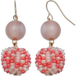 Bay Studio Seed Bead Double Drop Earrings