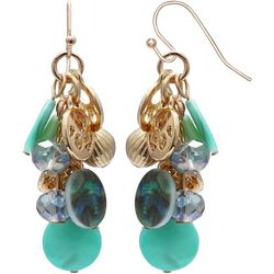 Bay Studio Shell Disc Cluster Earrings