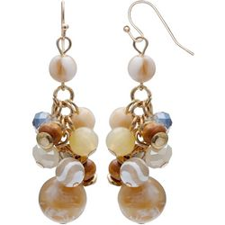 Bay Studio Beaded Cluster Dangle Earrings